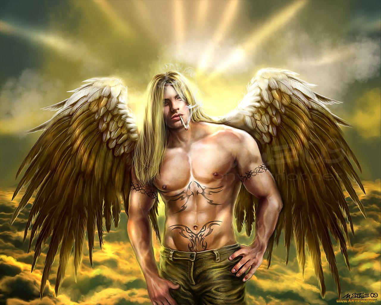 Картинка фэнтези ангел мужчина